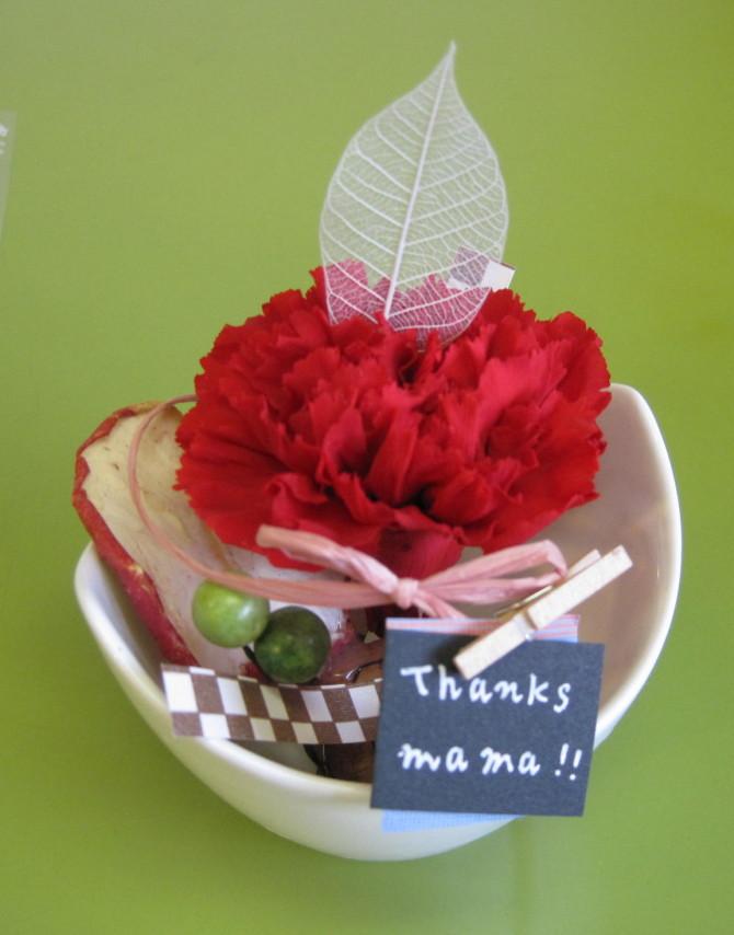 母の日には、オンフラワーズのお花を