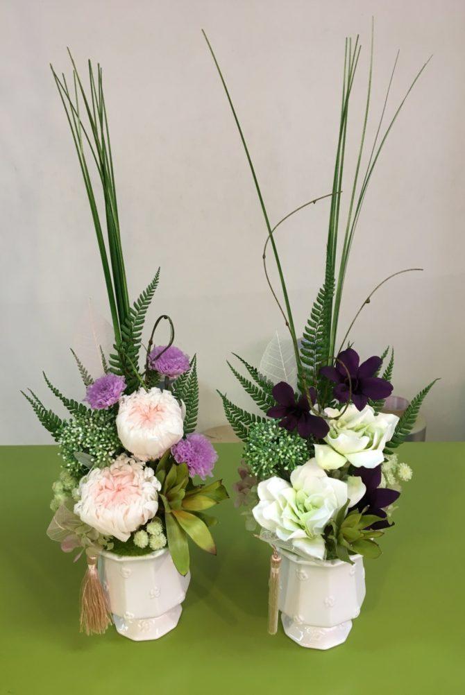 華やかなプリザーブドフラワーの供花